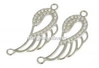 Link aripa de inger, argint 925 placat cu rodiu, 24.5mm - x1