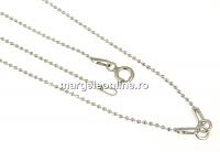 Lant pentru linkuri argint 925 placat cu rodiu, 41cm - x1