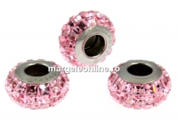 Swarovski, becharmed pave light rose, 12mm - x1