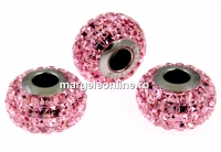 Swarovski, becharmed pave light rose, 15mm - x1