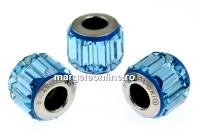 Swarovski, becharmed pave aquamarine, 10.5mm - x1