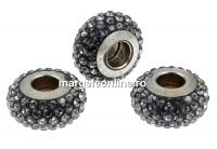Swarovski, becharmed pave silver night, 13.5mm - x1