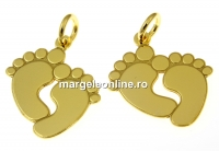 Pandantiv picioruse argint 925 placat cu aur, 21mm  - x1