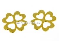 Link trifoi, argint 925 placat cu aur, 12.5mm - x1