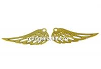 Pandantiv aripa inger, argint 925 placat aur, 25x10mm - x2