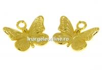 Pandantiv fluturas argint 925 placat aur, 13mm - x1