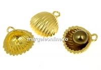 Baza pandantiv scoica argint 925 placat aur, perla de 6mm - x1
