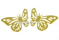 Link fluture, argint 925 placat aur, 20mm - x1