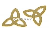 Link simbol Triquetra, argint 925 placat aur, 11.5mm - x1
