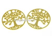 Link copacul vietii, argint 925 placat aur, 19mm - x1