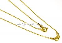 Lant pentru linkuri argint 925 placat cu aur, 42cm - x1