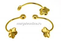 Extensie pentru cercei tija ag 925 placat cu aur, floare 6mm - 1per