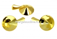 Baza pandantiv argint 925 placat cu aur, chaton 13mm - x1