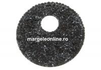 Swarovski, pandantiv fine rocks, black mix snow, 40mm - x1