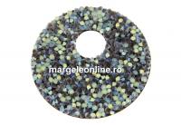 Swarovski, pand. fine rocks, black crystal AB matt, 40mm - x1