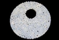 Swarovski, pand. fine rocks, white opal, 40mm - x1