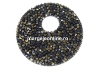 Swarovski, pand. fine rocks, black jet nut, 40mm - x1