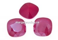 Swarovski, fancy square, peony pink, 10mm - x1