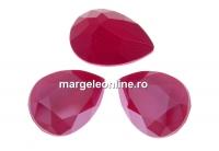 Swarovski, fancy picatura, peony pink, 14x10mm - x1
