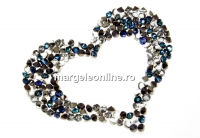Swarovski, pand. fine rocks, berm. blue mettalic light gold, 40mm - x1