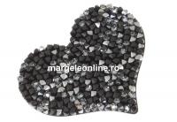 Swarovski, pand. rocks, black jet mettalic silver, 50mm - x1