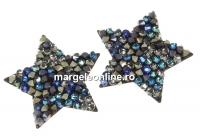 Swarovski, pand. fine rocks, black berm. blue mettalic gold, 22mm - x1