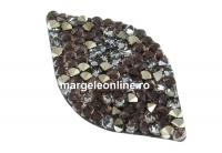 Swarovski, pand. rocks, black peach gold, 40mm - x1