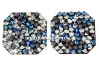 Swarovski, pand. fine rocks, black jet berm. blue CAL, 22mm - x1