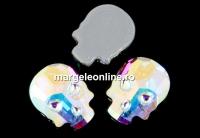 Swarovski, cabochon HF Craniu, aurore boreale, 10mm - x1