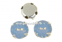 Swarovski, chaton montees air blue opal, 6mm - x10