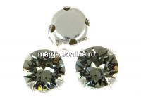Swarovski, chaton montees black diamond, 4mm - x20