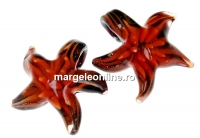 Pandantiv stea de mare portocaliu, 27mm - x1