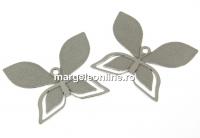 Baza pandantiv argint 925 pl. cu rodiu pentru Swarovski 2205 - x1