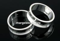 Baza inel suport cristale, argint 925 pl. cu rodiu, 18mm - x1