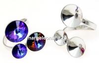 Baza inel, argint 925, 3 rivoli, 10-12-14mm - x1