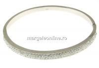 Bratara masiva din argint 925 rodiat cu cristale Swarovski, 55cm - x1