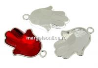 Baza pandantiv argint 925, Swarovski 4778 Mana lui Fatima 18mm - x1