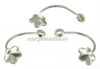 Extensie pentru cercei tija argint 925, floare 6mm - 1per