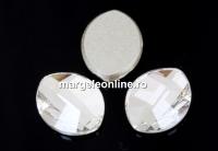 Swarovski, cabochon frunza, crystal, 10x8mm - x1