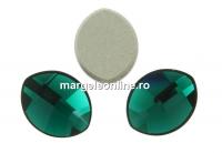 Swarovski, cabochon frunza, emerald, 10x8mm - x1