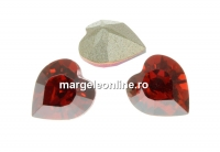 Swarovski, fancy chaton inima, red magma, 6mm - x4