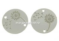 Link banut cu papadie argint 925, 14mm  - x1