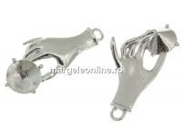 Baza pandantiv argint 925 placat cu rodiu, chaton 7mm - x1