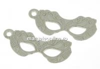 Pandantiv masca de carnaval argint 925, 17mm  - x1