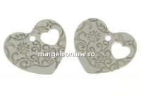 Pandantiv inima argint 925, 13mm  - x1
