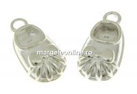 Pandantiv papucel argint 925, 12.5mm  - x1
