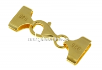 Set terminatie bratari si coliere miyuki, ag925 pl cu aur, 30x10mm - x1