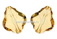 Swarovski, margele baroque, golden shadow, 14mm - x1