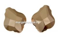 Swarovski, margele baroque, rose gold 2x, 14mm - x1