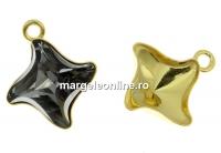 Baza pandantiv ag 925 aurit, romb, Swarovski 4485 de 10.5mm - x1